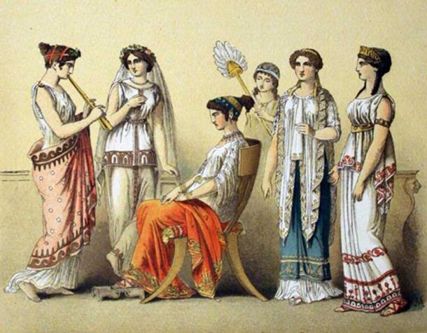 Ancient Greek women.