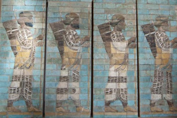 Ancient Mesopotamia Assyrian sculpture painting. (Andrea Izzotti / Adobe Stock)