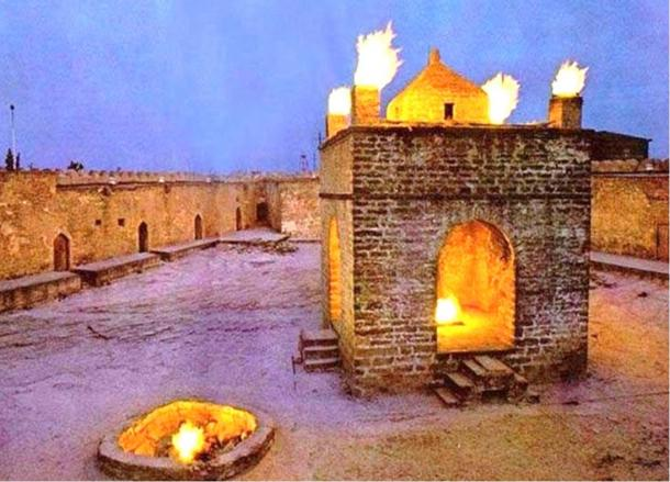 Ancient Persian fire temple still in use