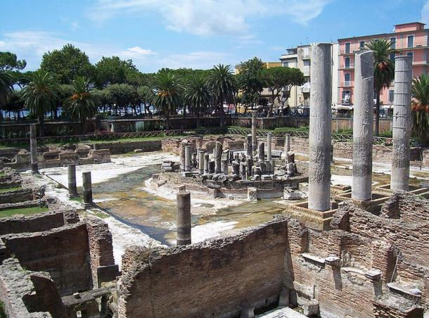 Ancient Roman marketplace and temple dedicated to the god Serapis, Pozzuoli, Italy.