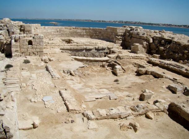 Ancient basilica ruins at Marea