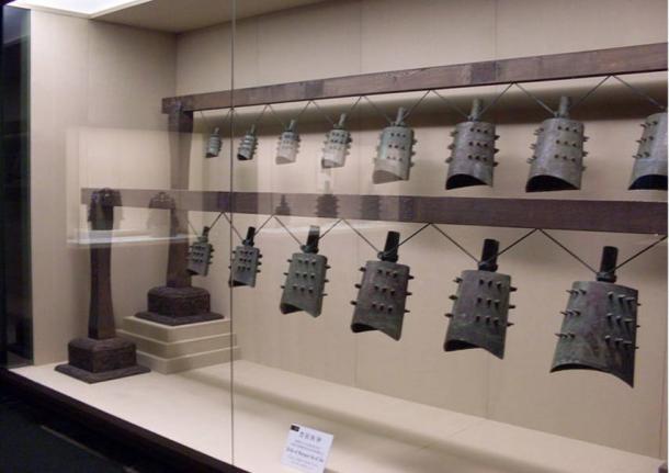 Ancient bronze bells, bianzhong, of Jin Hou Su.
