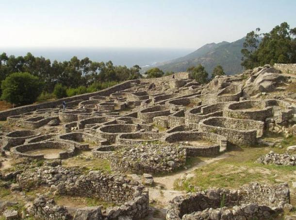 Ancient castro ruins, Galicia, Spain.