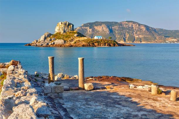 Ancient ruins on modern day Kos, Greece, where the Nazareth Inscription is now believed to have originated from. (sborisov / Adobe stock)