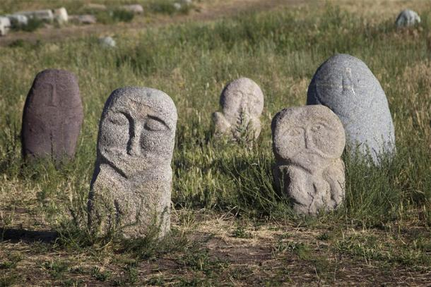 Ancient stone sculptures near Burana Tower (Olga Labusova / Adobe Stock)