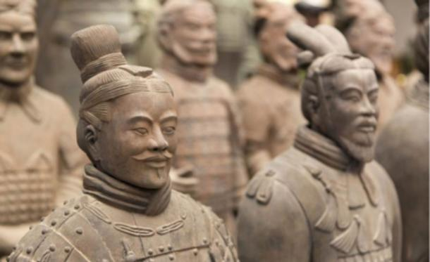 Ancient terra cotta statues.