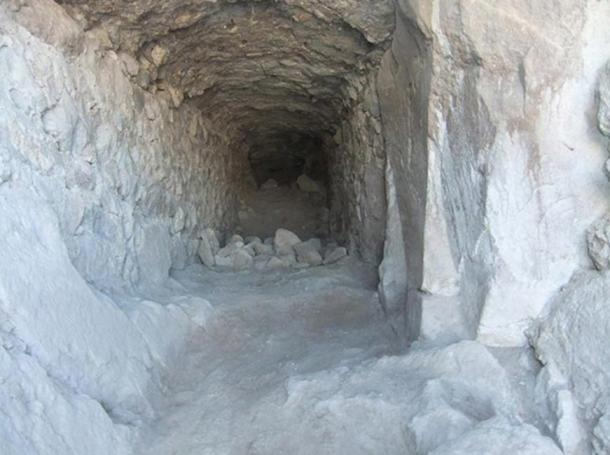 Ancient tunnel found inside Geval Castle.