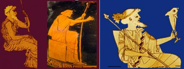 Ancient vase images of Noah/Nereus. (Author provided)