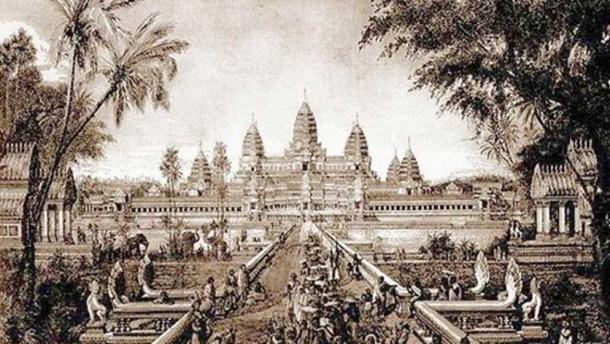 Angkor Wat illustration in 1880 by Louis Delaporte. (Maksim / Public Domain)