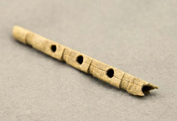 Anglo Saxon bone flute.