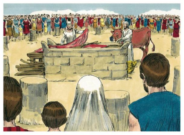 Animal sacrifice in the Bible. (Distant Shores Media/Sweet Publishing/CC BY SA 3.0)