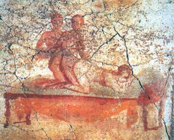 Another Pompeii brothel fresco.