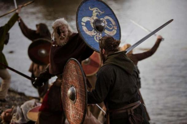 """Another of King Herlaug's bad alternatives: To be slaughtered by King Harald's army of experienced Viking warriors. (Photo: From """"Trace"""" Viking Movie by Markus Dalhslett)"""