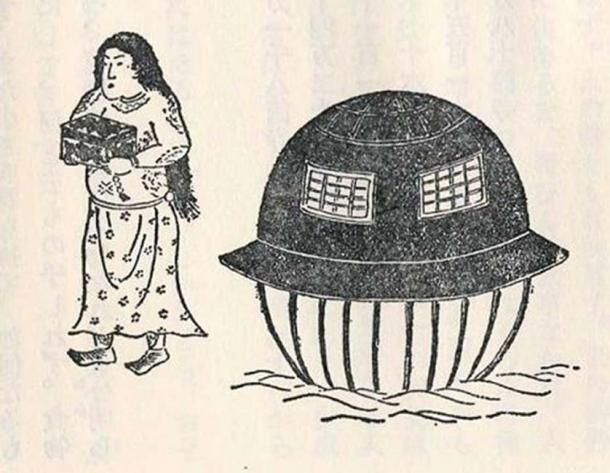 Another woodblock print of Utsurobune by Kyokutei Bakin.