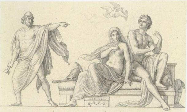 Aphrodite and Ares.