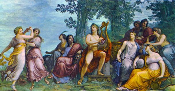 Apollo and the Muses on Parnassus. (Kameraad Pjotr / Public Domain)
