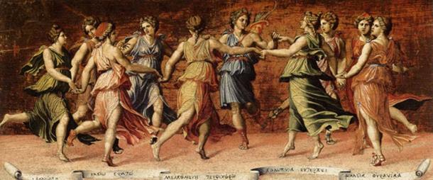 Apollo and the Muses by Baldassare Peruzzi. (Public Domain)