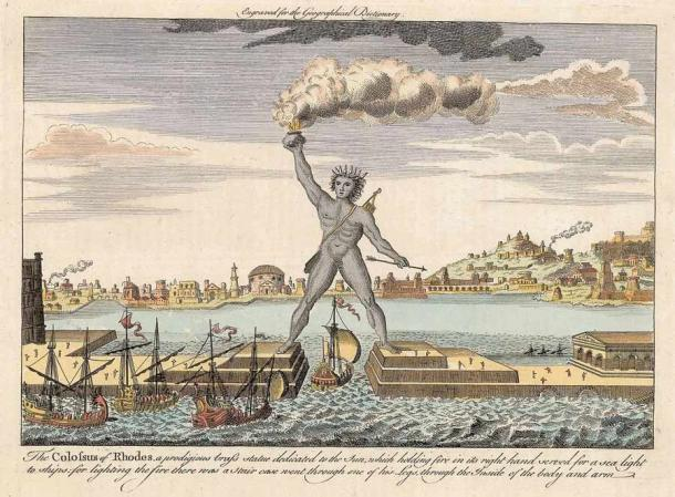 Apollonius Pontica, the Greek colony on St. Cyricus, was once home to the enormous Colossus of Apollonia Pontica, a impressive statue of Apollo which inspired the Colossus of Rhodes, seen here, which was built 200 years later. (Public domain)