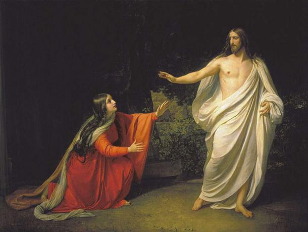 'Appearance of Jesus Christ to Maria Magdalena.'  (1835) By Alexander Andreyevich Ivanov.