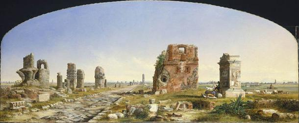 The Appian Way (1869) by john Linton Chapman.