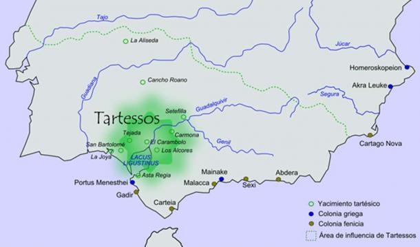Approximate Tartessos cultural area. (CC BY-SA 3.0)