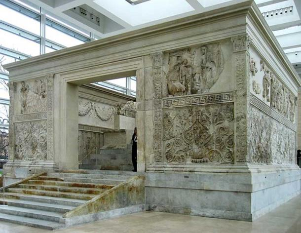 """Ara Pacis Augustae, the """"Altar of Augustan Peace"""", as reassembled."""