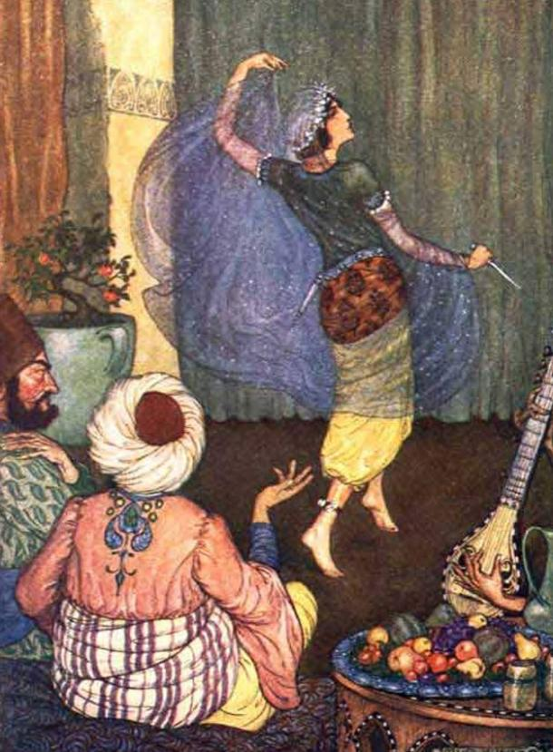 Arabian Nights illustrated by Milo Winter (1914)