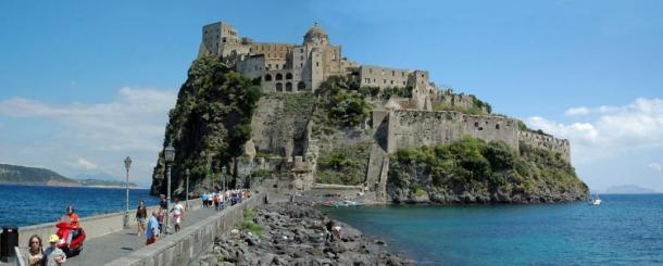 The island of Ischia's Aragonese Castle
