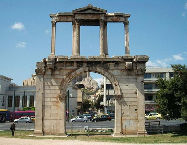 Arch of Hadrian, Athens.