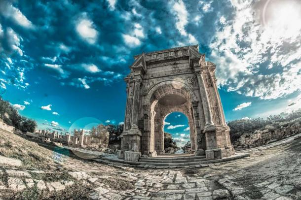 The Arch of Septimius Severus at Leptis Magna in Libya is a well-preserved Roman ruin which bears testament to the first African Emperor of Rome. (Abdulfatah Amr / CC BY-SA 4.0)
