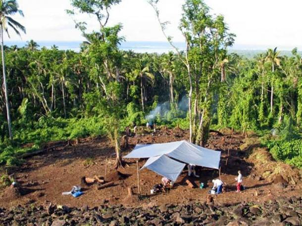 Archaeological dig at Pulemelei. (Photos by World Monument Fund)