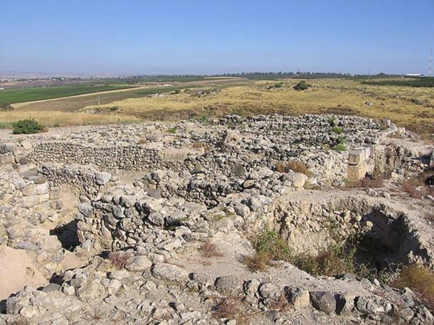 Archaeological ruins at Hazor, Israel.