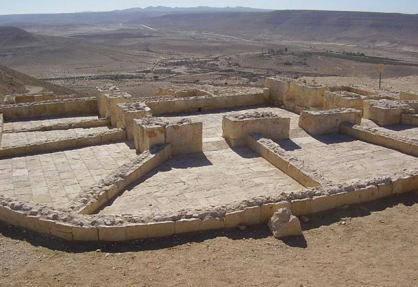 Archaeological site in Avdat, where researchers found winepresses
