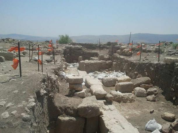 Archaeological site of Huqoq, Israel, where the new mosaic has been revealed.