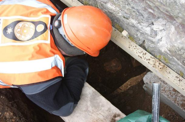 Archaeologists found a wall that may date back to an earlier priory, possibly to early medieval times.