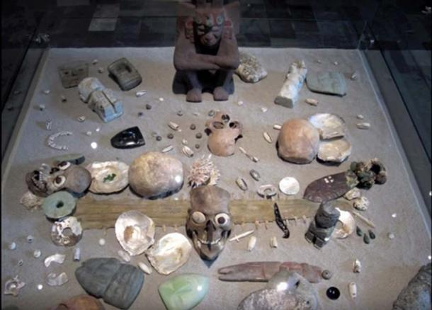 Archaeologists have fond numerous items in a site that is believed to be an Aztec Royal Burial. (Leonardo López Luján)