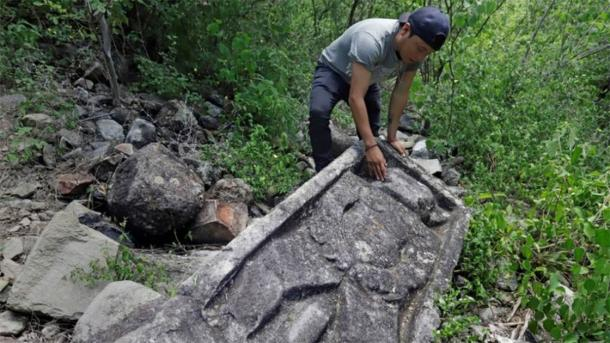 Archaeologists think the site may have been dedicated to the Zapotec god of the Underworld. (EFE/Hilda Rios)