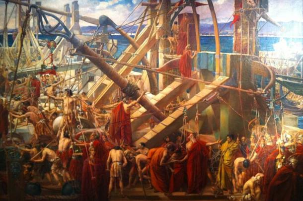 Archimedes directing the defenses of Syracuse by Thomas Ralph Spence