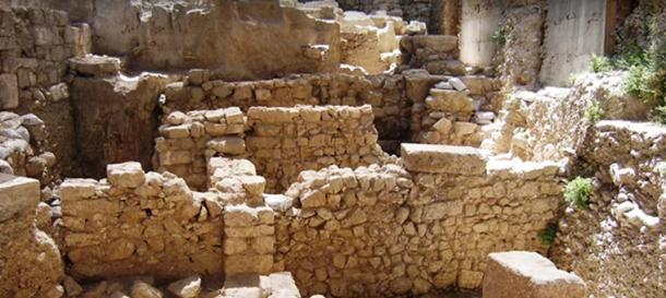 Area of excavation near the Western Wall in Jerusalem where the seal has been found.