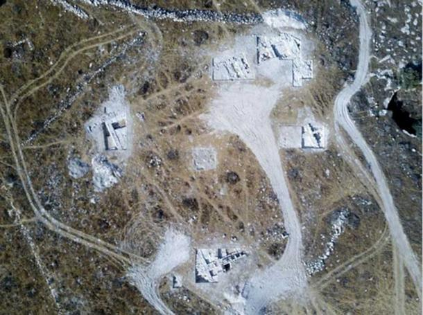 Area of the large structure, possibly a temple or palace, uncovered in the dig – aerial photograph (photo: Dane Christensen)