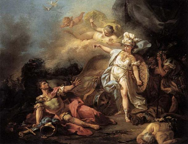 'The Combat of Ares and Athena' (1771) by Jacque-Louis David.