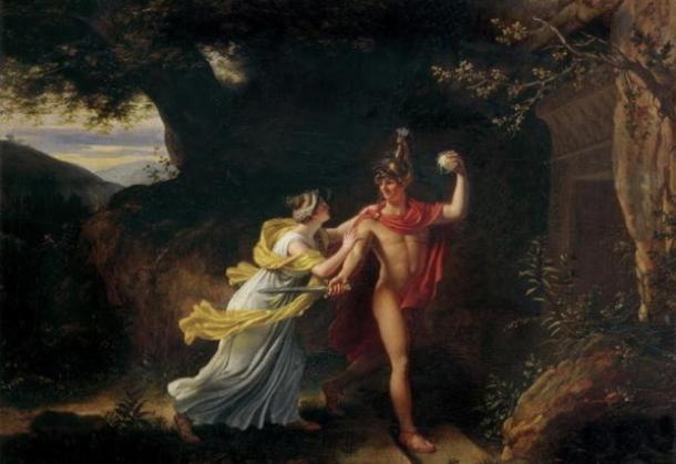 Ariadne and Theseus by Jean Baptiste Regnault (1754 – 1829) Musee des Beaux-Arts, Rouen (Public Domain)