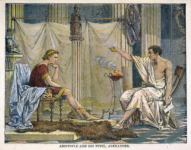 Aristotle teaching Alexander the Great