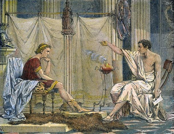 Aristotle teaching Alexander the Great