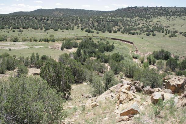 The Arizona glyph site on a private ranch property located miles from any public access or road.