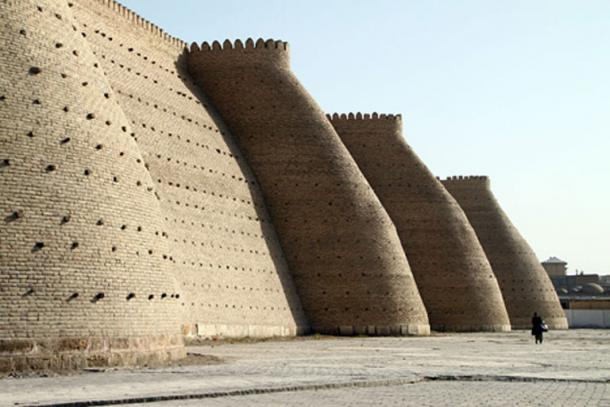The Ark fortress in Bukhara, Uzbekistan.