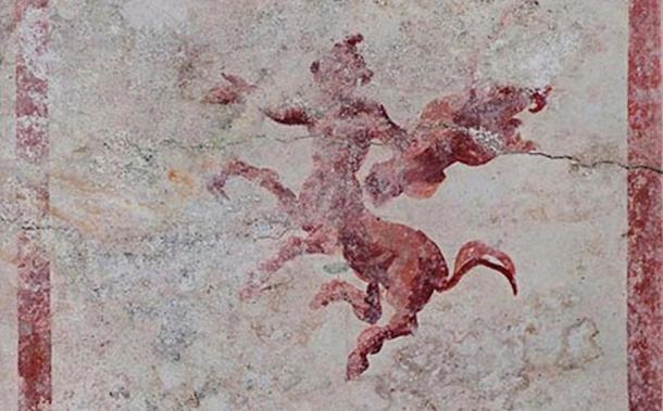 Armed centaur fresco