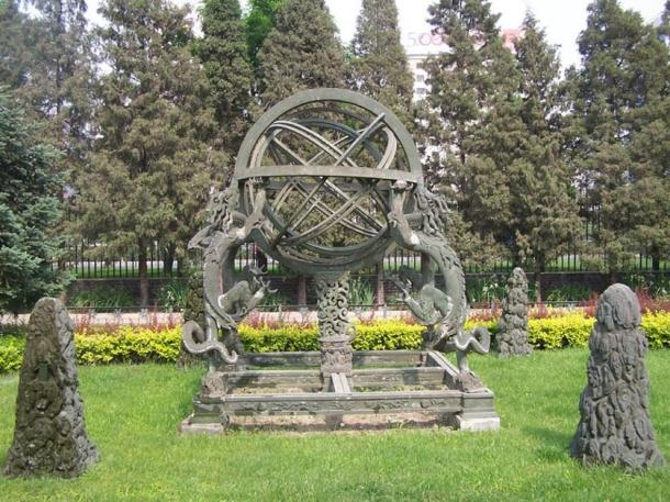 Armillary Sphere in the Ancient Observatory, Beijing, China.