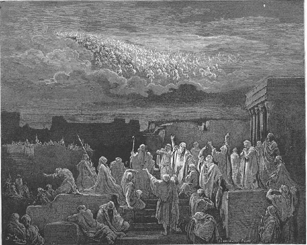 Army in the sky by Gustave Dore