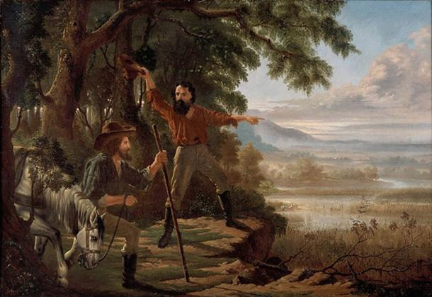 'Arrival of Burke & Wills at Flinders River' (1862) by Edward Jukes Greig. (Public Domain)